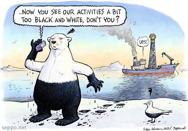 Polar Bear and Arctic oil Exploration